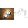 Термо-гигрометр (оптоволоконные светильники для сауны)