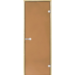 Дверь STG 9x21 (Harvia) ольха, стекло 'бронза'