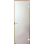 Дверь STG 9x21 (Harvia) ольха, стекло 'сатин'